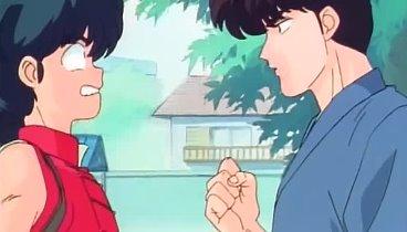 Ranma 1/2 Temporada 01 Capitulo 12 - El amor de las mujeres es la guerra. Luchemos en el combate de gimnasia